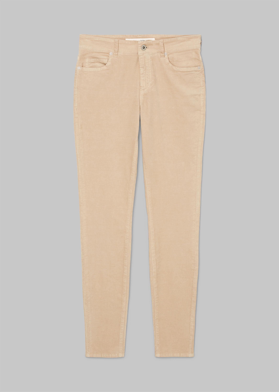 5 Pocket, mid waist, slim leg, regu
