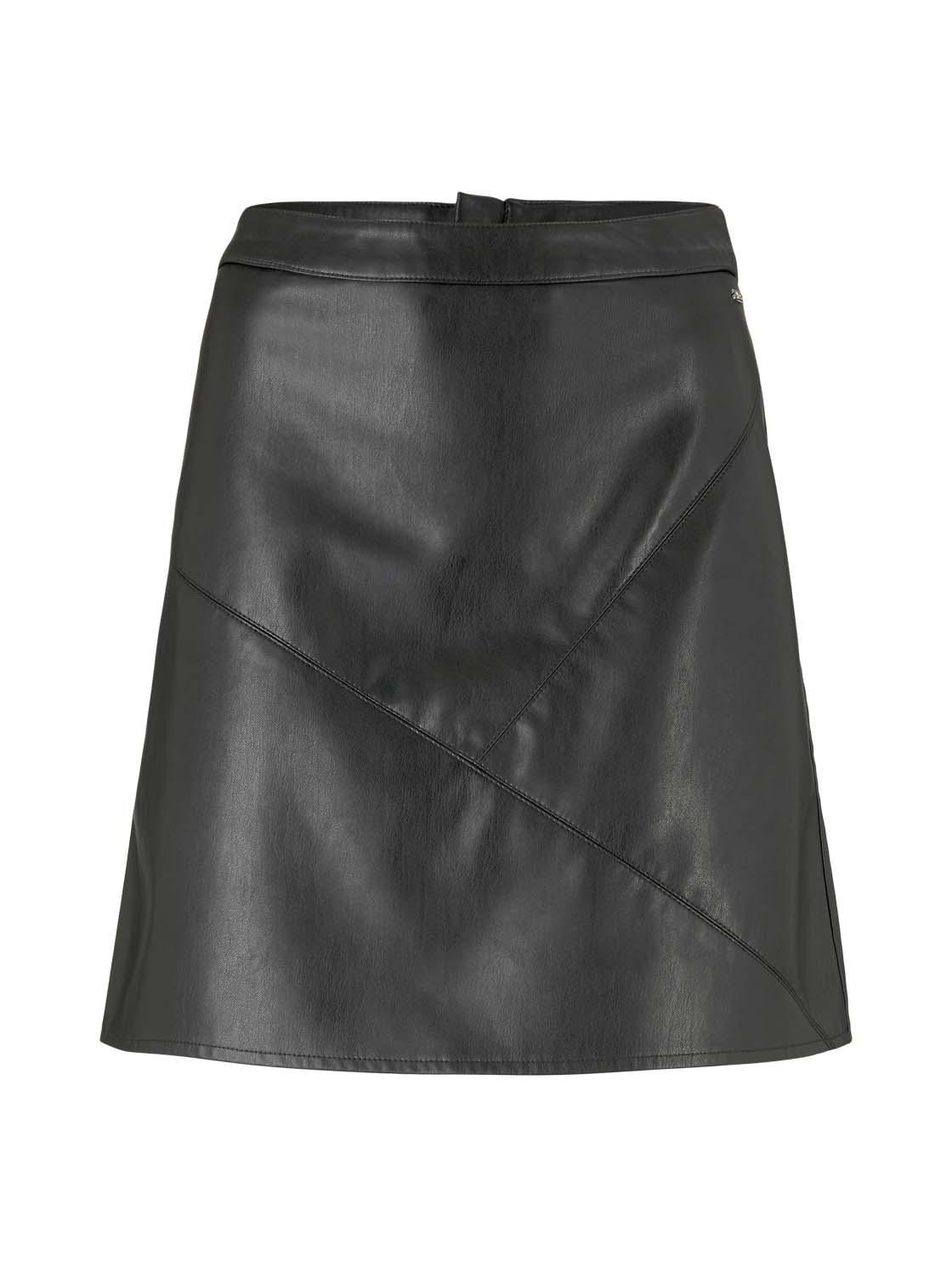 leather optic mini skirt