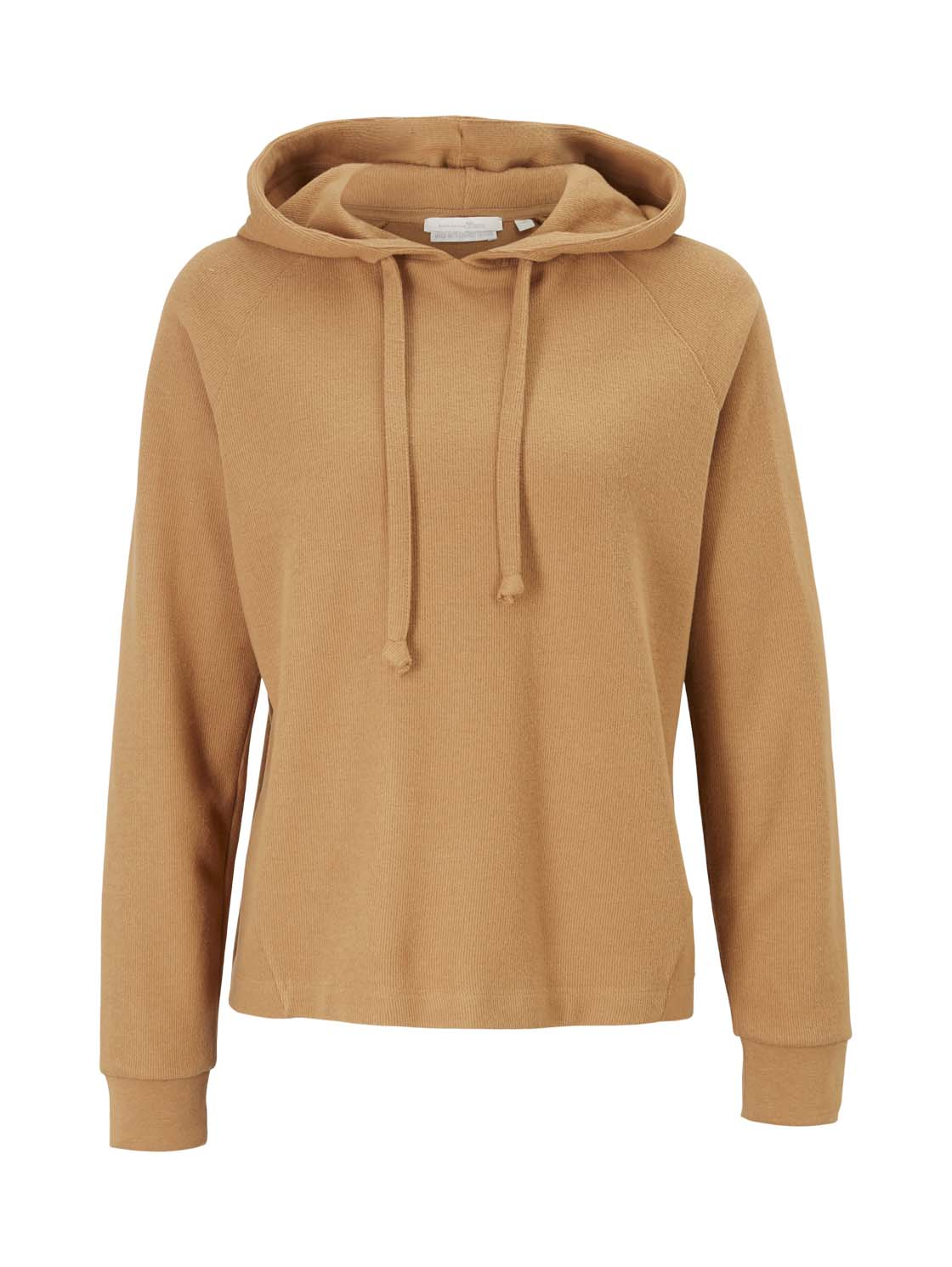 brushed rib hoodie