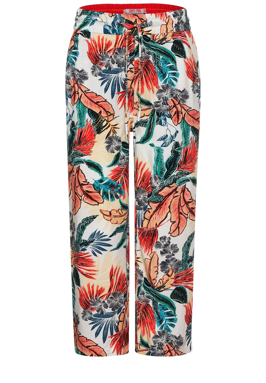 Style TOS Wide Leg Flower AOP