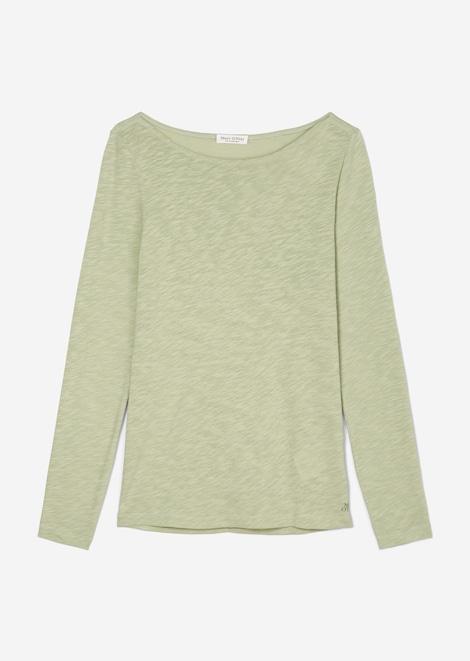 T-shirt, long sleeve, boat neck