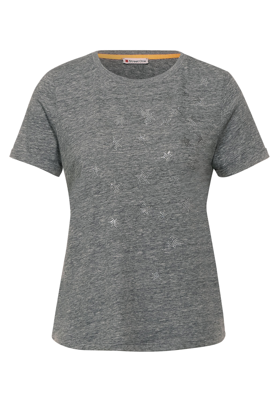 LTD QR stars partprint shirt