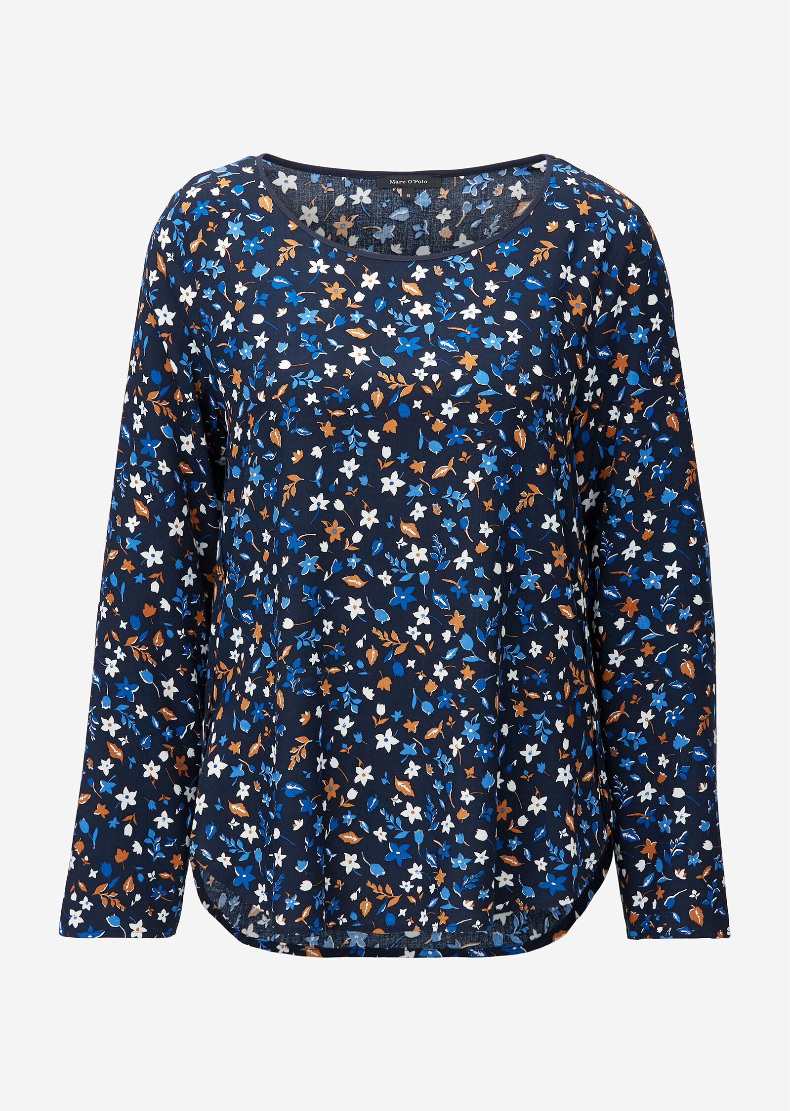 Blouse, crew neck, long sleeved, sp