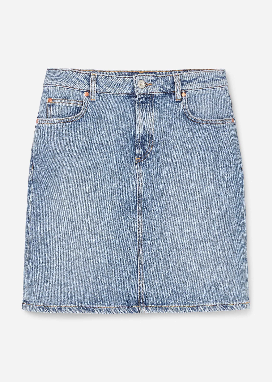 Denim Skirt, over knee length, penc