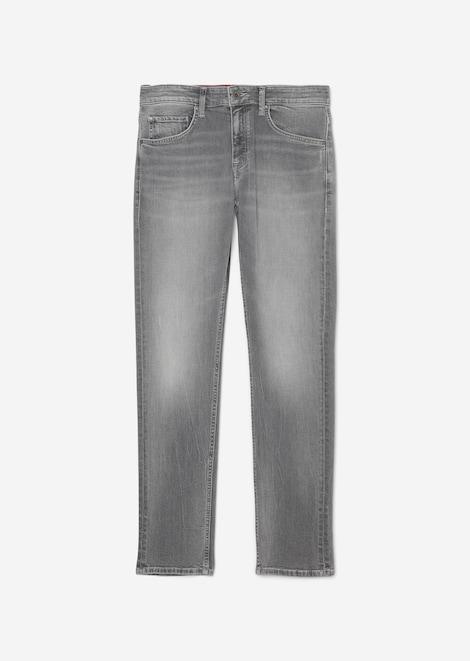 Denim, 5-pocket, shaped fit, low wa
