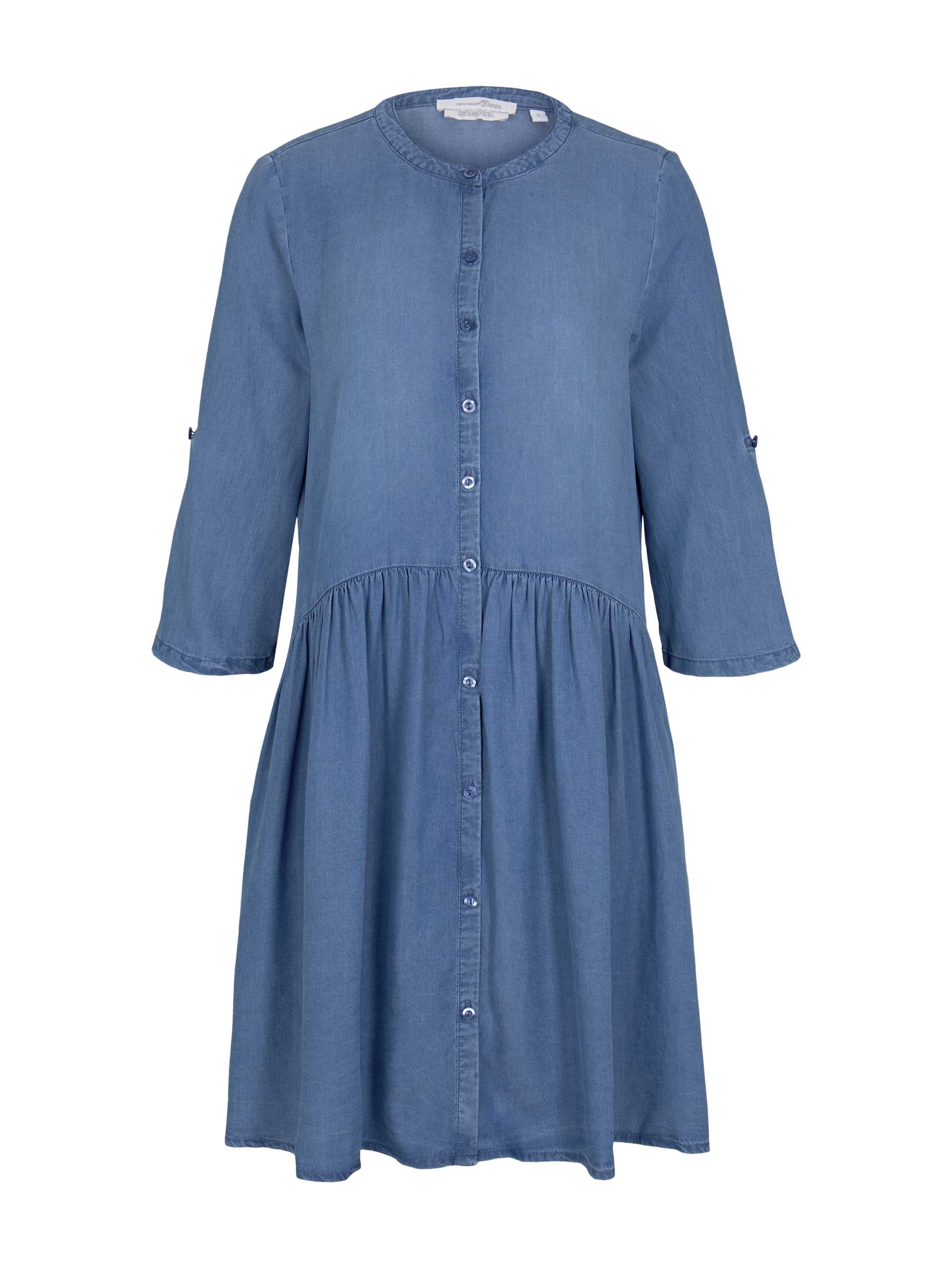 denim dress with placket