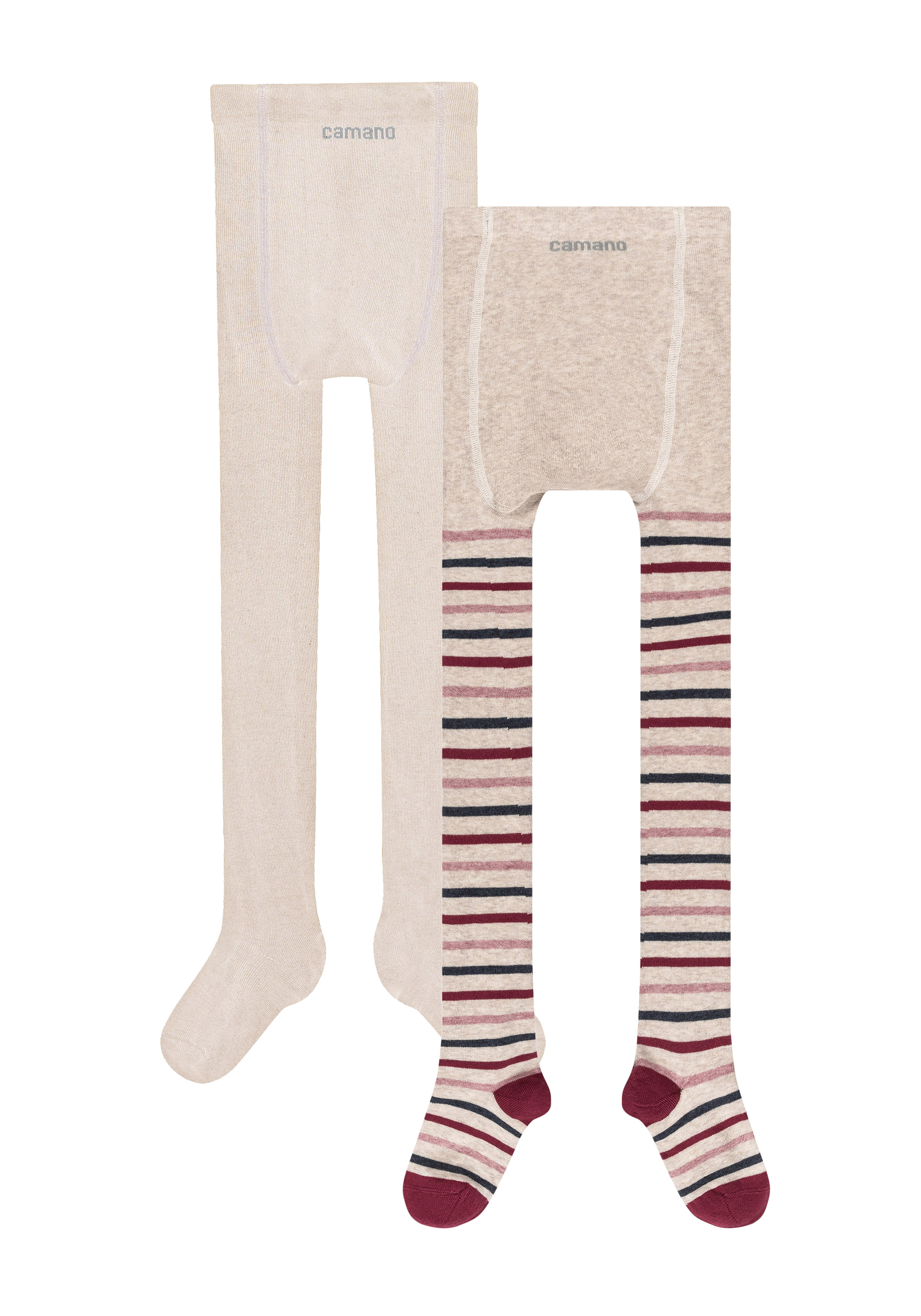 Children ca-soft organic cotton stripes Tights 2p