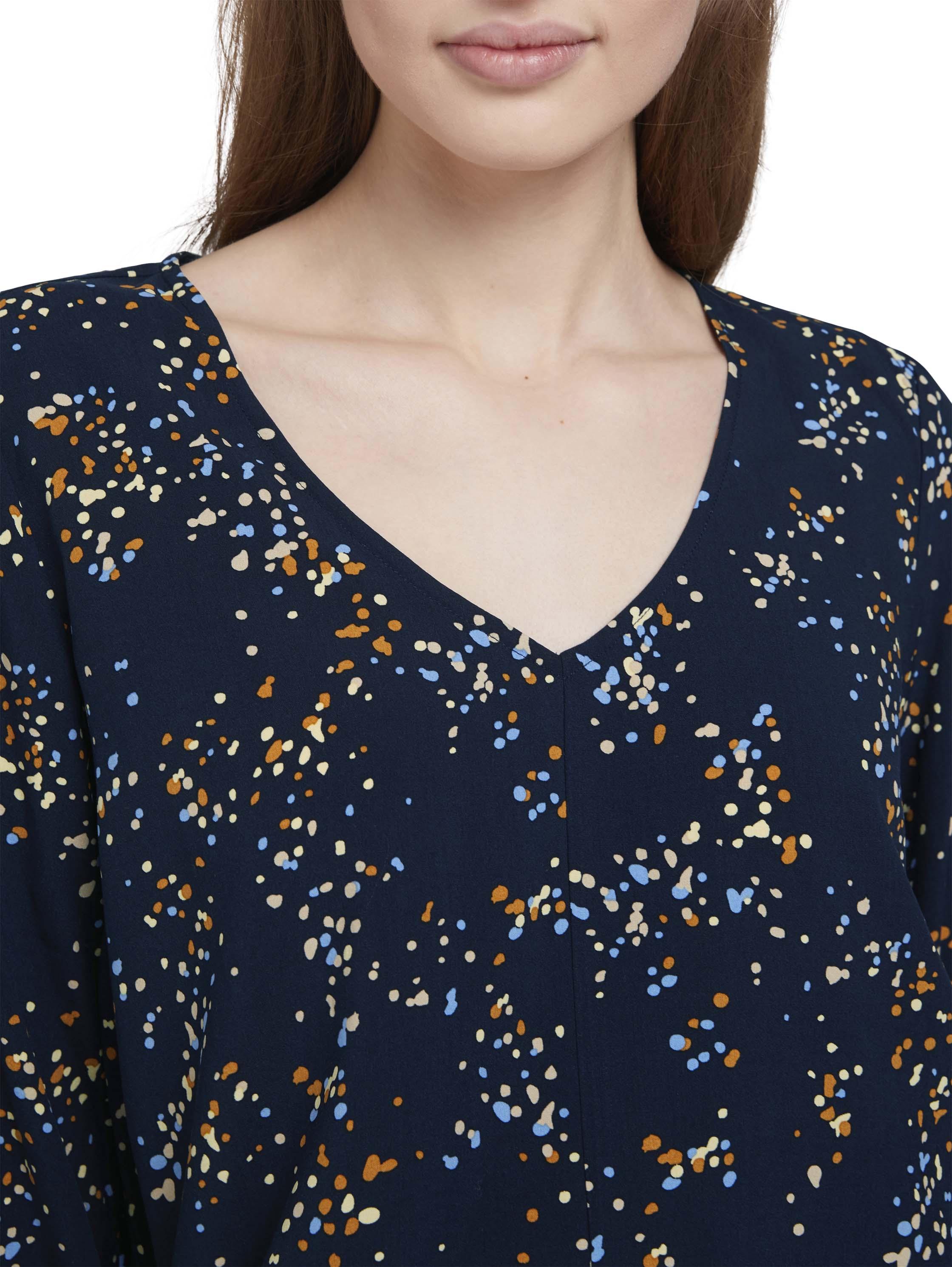 balloon sleeve v-neck blouse